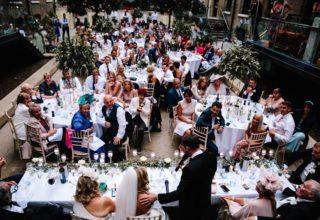 Devonshire Terrace Wedding Venue, Western Courtyard, Photo by Teddy Pig Photography