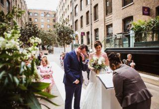 Devonshire Terrace Wedding Venue, Western Courtyard, Photo by Amy B Photography