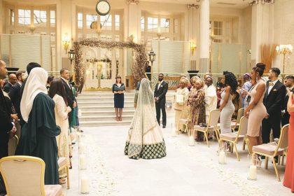 The Waldorf Hilton Wedding Venue, Palm Court
