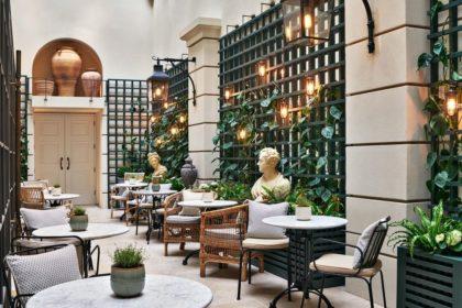 Kimpton Fitzroy London Venue Palm Court Bistro Tables
