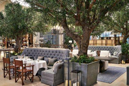 Kimpton Fitzroy London Venue Palm Court Seating Area