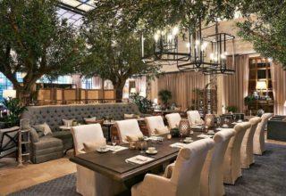 Kimpton Fitzroy London Venue Palm Court Banquettes
