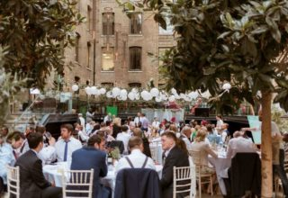Devonshire Terrace Wedding Venue, Courtyard, Photography by Nick Ray