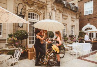 Laura-Dartmouth House Wedding Venue, Courtyard, Photography by Alexa Penberthy