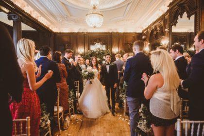 Dartmouth House Wedding Venue, Churchill Room, Photography by Alexa Penberthy
