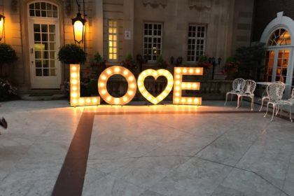 LOVE sign at Dartmouth House London, Weddings & Events Venue Mayfair