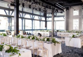Water Room wedding reception at Pier One Sydney Harbour overlooking the water, photo by Inlighten Photography