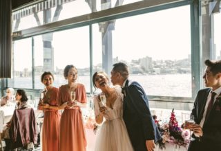 Wedding reception in the Water Room at Pier One Sydney, Photo by Kevin Lue Photography