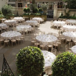 The Langham Wedding Venue, Courtyard Garden, Photography by Nick Rose