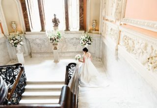 Dartmouth House Wedding Venue, Grand Staircase, Photography by Fiona Kelly