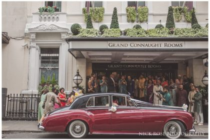 De Vere Grand Connaught Rooms Wedding Venue, Outside Venue