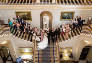 116 Pall Mall Wedding Venue, Staircase, Photography by Andy Griffin