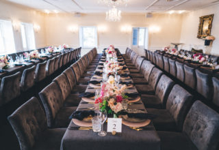 Dunbar House long tables setting for private events