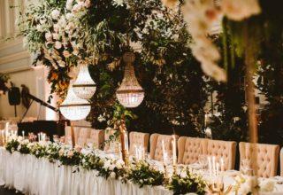 The Tea Room QVB Ballroom Wedding Head Table
