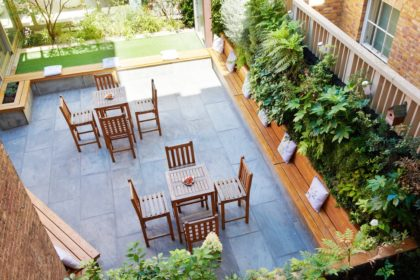 11 Cavendish Square Corporate Party, Private Courtyard