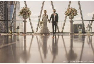 The Gherkin Wedding Venue, Level 39, Photography by Nick Rose