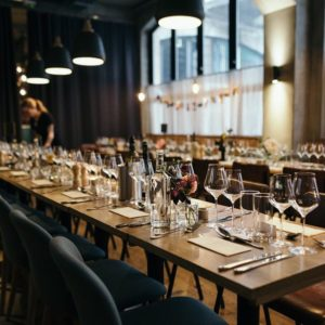 Humble Grape Fleet Street Wedding Venue, Main Dining Room, Photography by Greg Coltman