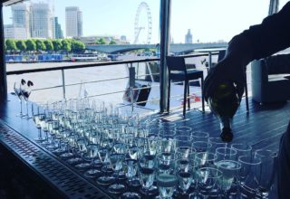 The Yacht London Corporate Summer Function, Top Deck