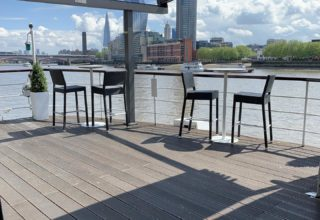 The Yacht London Private Dining, Top Deck Terrace & Bar