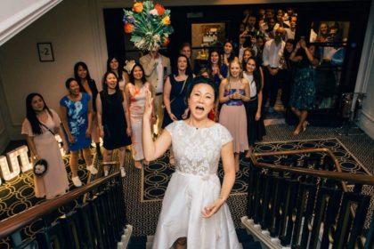 Courthouse Hotel Shoreditch Wedding Venue, Staircase, Photography by Nikki Vandermolen