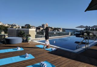 Vibe Hotel Rushcutters Bay Day Yoga Sessions, Outside Terrace