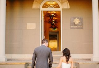 Dunmar House Sydney Wedding Venue couple arriving