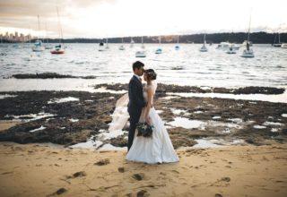 Dunmar House Sydney Wedding Venue couple on the beach