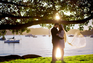 Dunbar House fig tree bridal couple