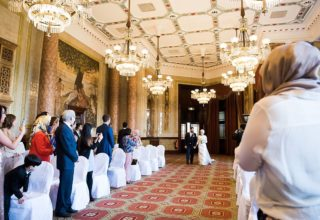 Royal Horseguards Hotel London Events and Wedding Venue, Reading and Writing Room Wedding Ceremony