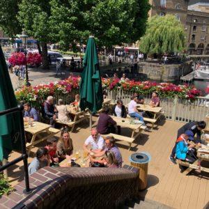 The Dickens Inn Summer Dining, Outside terrace