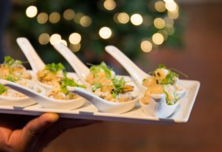Canapes at The Dickens Inn