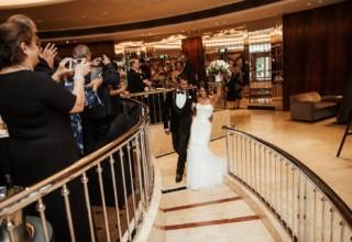 Couple entering wedding Park Hyatt Melbourne