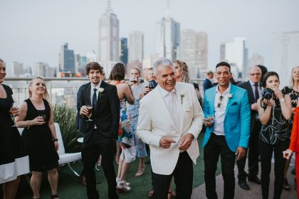 The Langham Melbourne Wedding Venue, Terrace, Photography by Theodore & Co