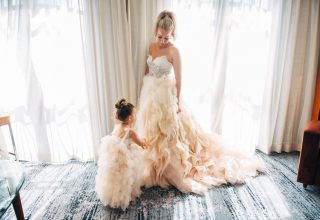 Bride getting ready at Park Hyatt Melbourne Photo by Love and Other Photography