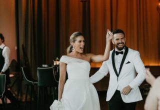 Modern wedding at Metropolis Melbourne photo by Miranda Stokkel Photography