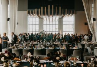 Modern wedding dinner at Metropolis Melbourne loft space, Miranda Stokkel Photography