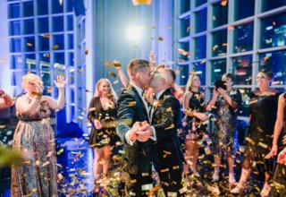 Metropolis Same Sex Wedding Photo by Corey Wright Photography