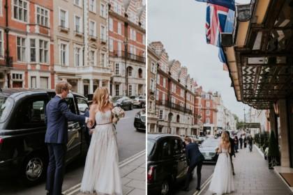 Claridge's Hotel Wedding Venue, Entrance, Photography by Maja Solo