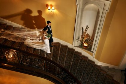 Claridge's Hotel Wedding Venue, Staircase, Photography by KND
