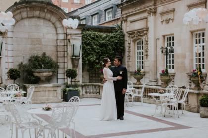 Wedding couple at Dartmouth House London