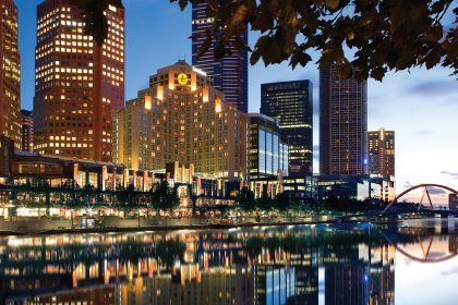 City and Yarra view of The Langham Melbourne, Luxury Weddings and Events Venue