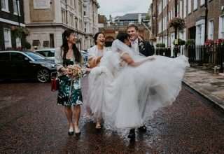 Outside The Kitty Hawk London Wedding Venue