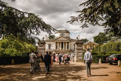 Chiswick House & Gardens Wedding Venue, Outside, Photography by Kris Piotrowski