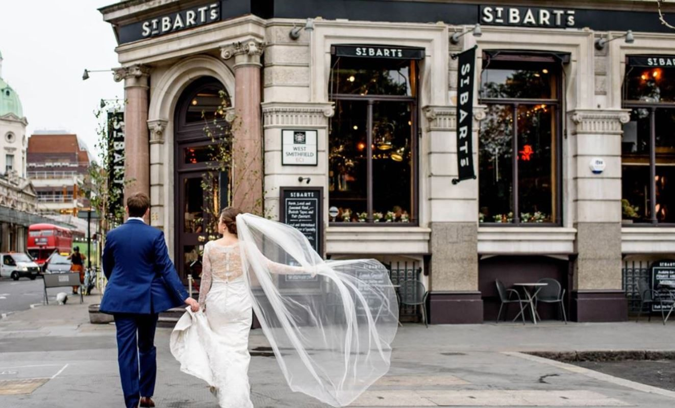 St Bart's Brewery Wedding Venue, Outside space