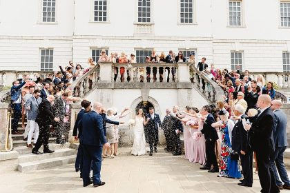 Queen's House Greenwich Wedding Venue, Outside space, Photography by Fiona Kelly.jpg