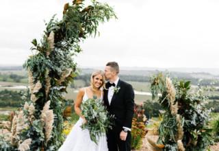 Stunning Yarra Valley winery wedding at Levantine Hill photo by Erin & Tara dogs