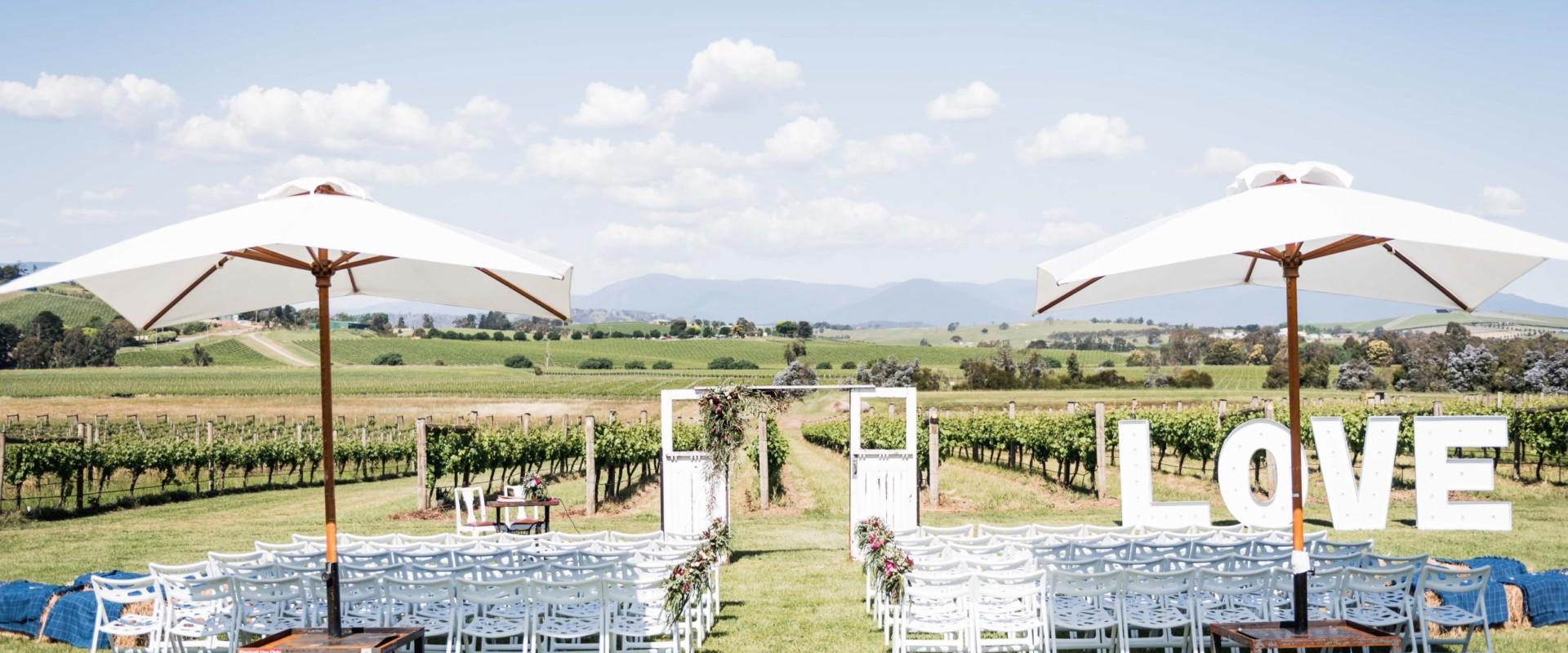 Acacia Ridge Winery Wedding, Ceremony, Yarra Glen, Melbourne
