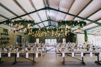 Industrial Wedding Venue, Reception Setup