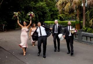 Wedding party Taronga Zoo garden weddings