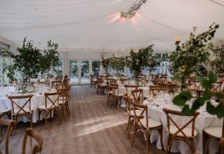 Fulham Palace Corporate Lunch, The Chaplains Garden Marquee